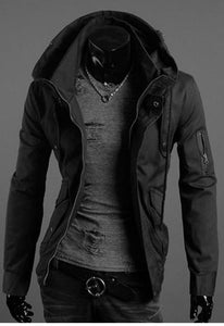 Hooded Mens Military Casual Streetwear Punk Style Tactical Overcoat