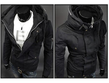 Load image into Gallery viewer, Hooded Mens Military Casual Streetwear Punk Style Tactical Overcoat
