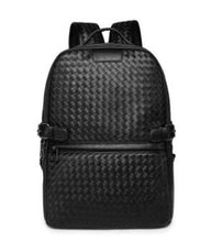 Load image into Gallery viewer, IMIDO Brand Designer Men's High Quality Leather Mochila Black Backpack