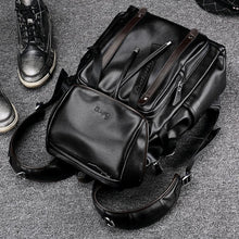 Load image into Gallery viewer, Leather Anti-theft Preppy Style Pack, laptop carrying capacity
