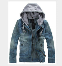 Load image into Gallery viewer, MKASS Men's Denim Detachable Hooded Jacket