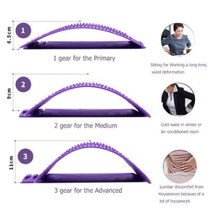 Magic Back Stretcher Lumbar Fitness Support Spine Reliever