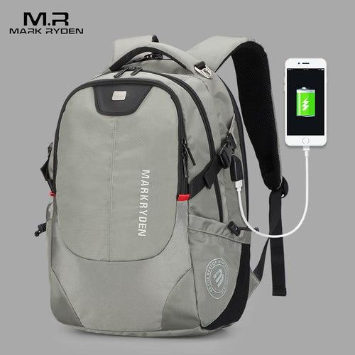 Mark Ryden Men's Multi-function USB Charging Laptop Backpack