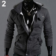 Load image into Gallery viewer, Men Fashion Casual Long Sleeve Slim Zipper Cardigan Hooded Jacket Coat