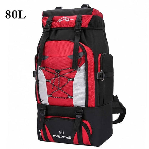 Men's 80L Large Waterproof Climbing Hiking Camping Mountaineering Backpack