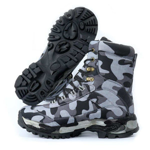 Men's Army Desert Multi-camo Tactical Lace Up Canvas Camouflage Boots