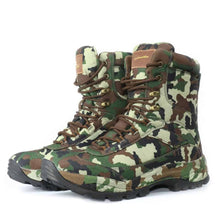 Load image into Gallery viewer, Men's Army Desert Multi-camo Tactical Lace Up Canvas Camouflage Boots