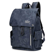 Load image into Gallery viewer, Men's Blue Camouflage Commuter Daypack