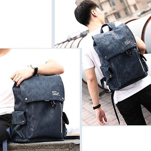 Men's Blue Camouflage Commuter Daypack