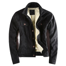 Load image into Gallery viewer, Men's Leather Suede Slim Motorcycle European Style Biker Jacket
