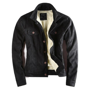 Men's Leather Suede Slim Motorcycle European Style Biker Jacket
