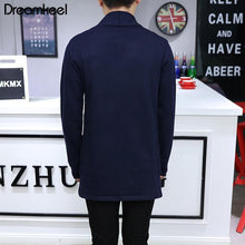 Load image into Gallery viewer, Men's Long Knit Cardigan Slim Sweater Windbreaker Business Cotton Casual Jacket