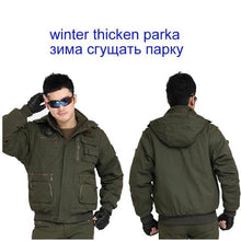 Load image into Gallery viewer, Men's Military 101 Removable Sleeve Casual Hooded Flight Jacket