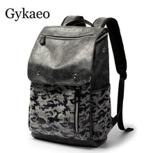Load image into Gallery viewer, Men's Vintage Rhino Camouflage Mochila Backpack