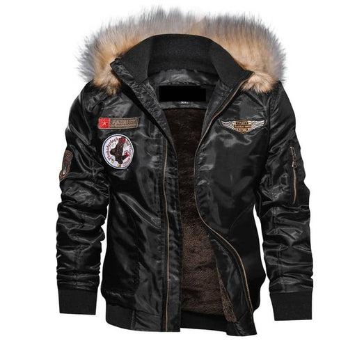 Mens Bomber Jacket Motorcycle Military Pilot Army Coat