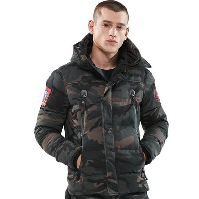 Mens Cotton Parka Casual Outerwear Jacket
