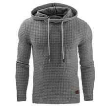 Load image into Gallery viewer, Mens Solid Squared Casual Hoodie Sweatshirt