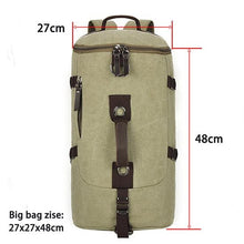 Load image into Gallery viewer, Mountaineering Large Capacity Men's Canvas Bucket Shoulder Travel Bag