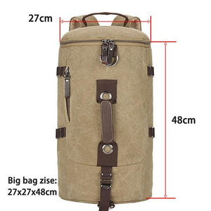 Mountaineering Large Capacity Men's Canvas Bucket Shoulder Travel Bag
