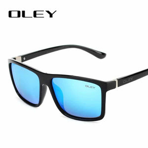 OLEY Vintage Style Men Classic Square Glasses UV400 Sunglasses