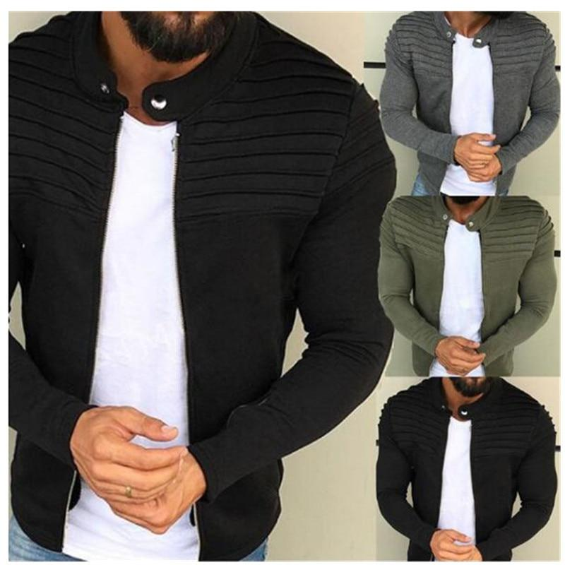 Pleated Patchwork Cardigan Fleece Collared Street Jacket - Black/Grey/Green
