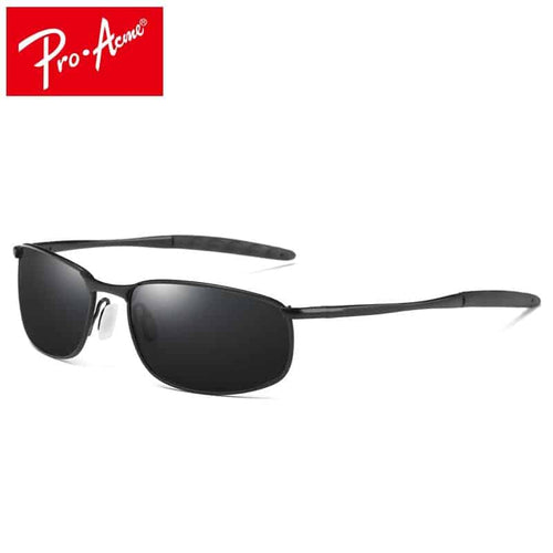 Pro-Acme Men's Polarized Rectangle Sunglasses