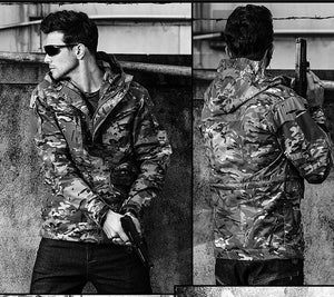 ReFire Army Field Tactical Waterproof Camo Military Windbreaker Jacket Coat
