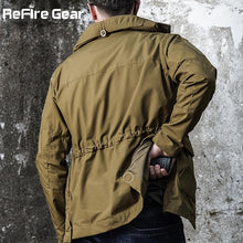 Load image into Gallery viewer, ReFire Army Field Tactical Waterproof Camo Military Windbreaker Jacket Coat