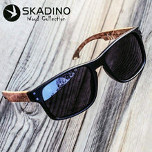 Load image into Gallery viewer, SKADINO Beech Wooden Polarized UV400 Sunglasses