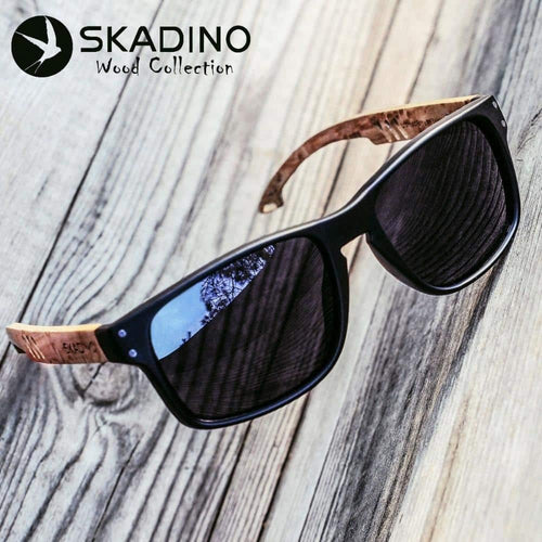 SKADINO Beech Wooden Polarized UV400 Sunglasses