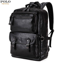 Load image into Gallery viewer, VICUNA POLO Leather Men Travel Men's Luggage Large Capacity Backpack