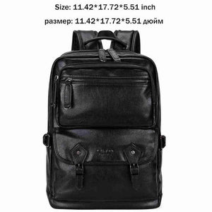 VICUNA POLO Leather Men Travel Men's Luggage Large Capacity Backpack