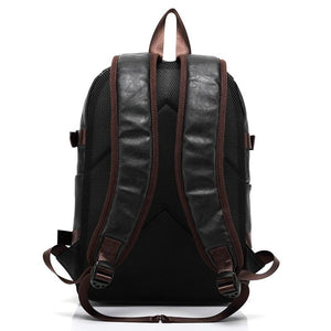 Vintage Leather Punk Leisure Style Travel Backpack