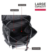"Load image into Gallery viewer, Waterproof Large Capacity 14"" Laptop Leather Backpack Mochila Black/Brown"