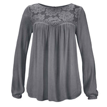 Load image into Gallery viewer, Women's Gray / Navy / Pink Casual Long Sleeve Solid Color Summer Top
