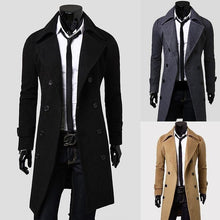 Load image into Gallery viewer, ZOGAA 2019 Men's Woolen Slim Fit Lengthened Trench Coat - 5color