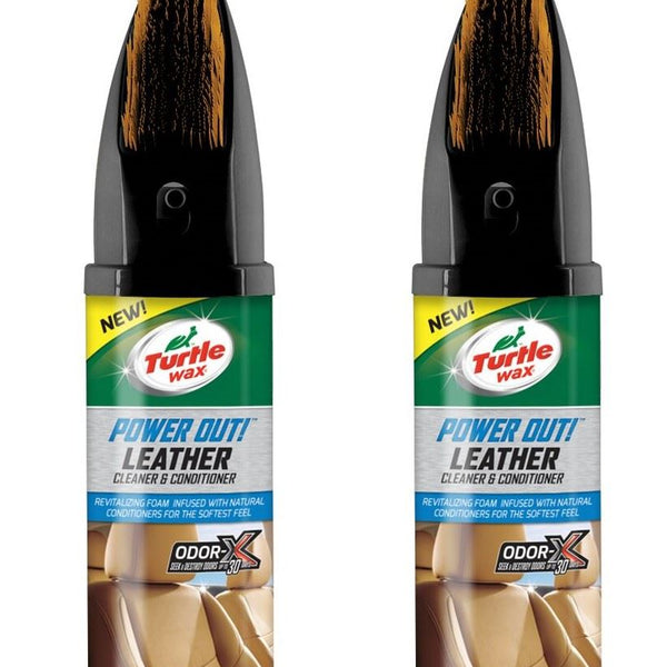 Power Out Leather Cleaner 2 x 400 ML