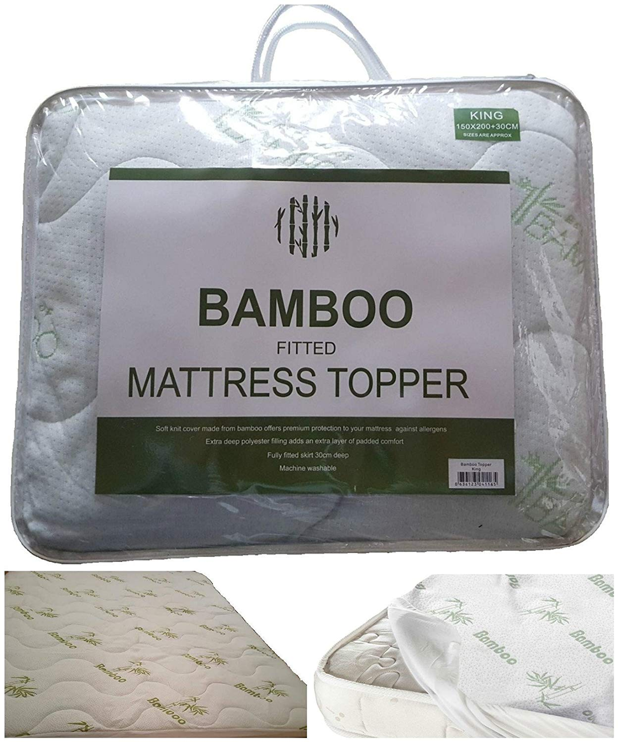 Hotel Quality Fitted Mattress Protectors 12 deep 4 foot Olivia Rocco Luxury Quilted Extra Deep Mattress Protector 3//4 Bed