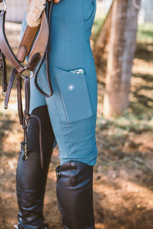 breeches feature a thigh pocket for phone