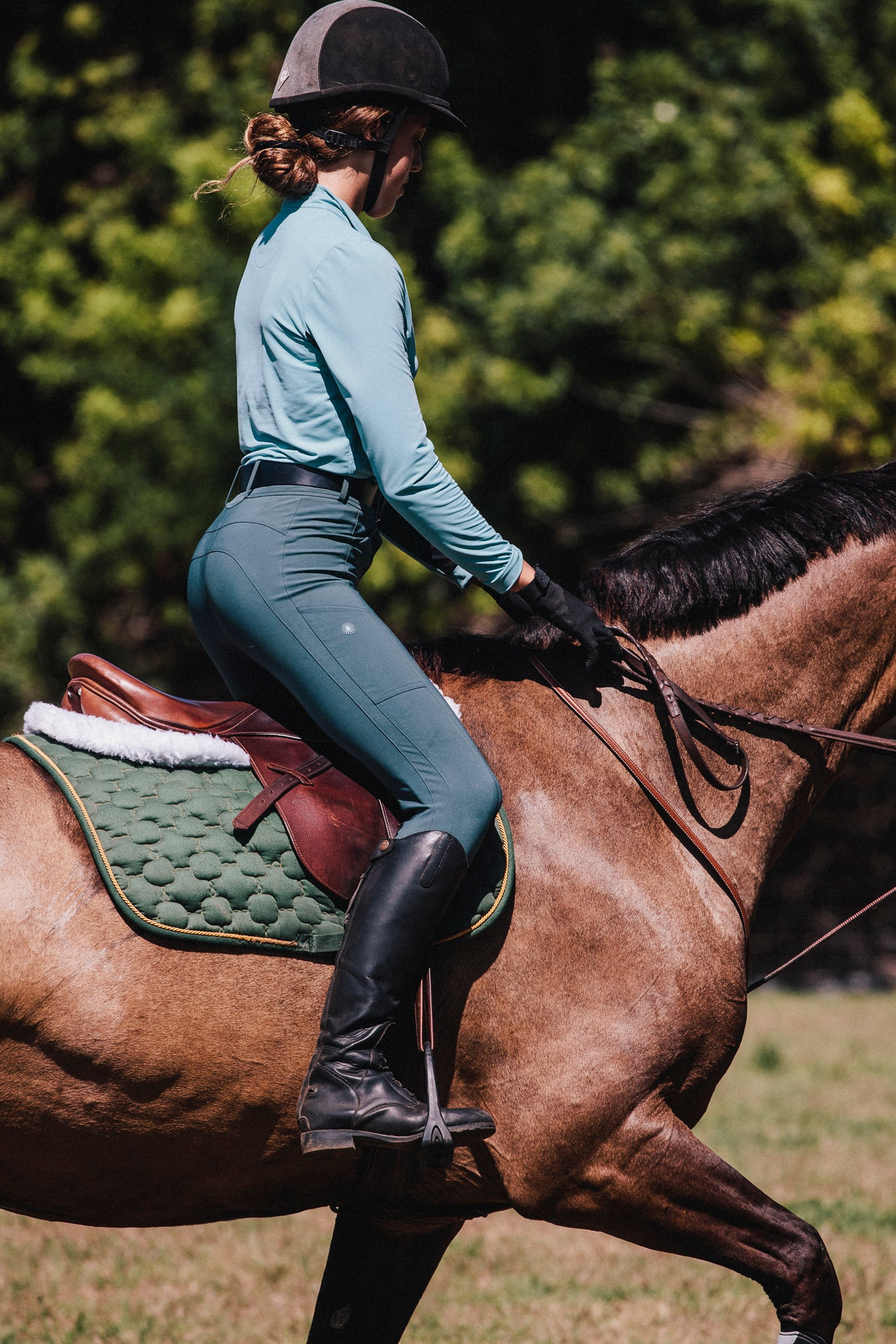 High waisted ladies breeches for comfort and style