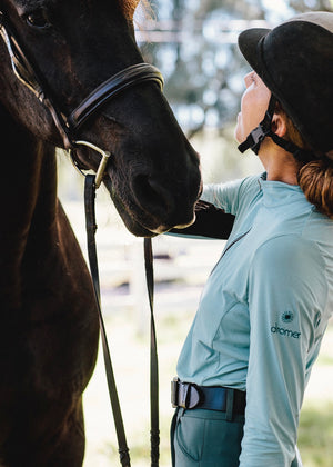 Equestrian sun shirt soft fabric and tailored for women