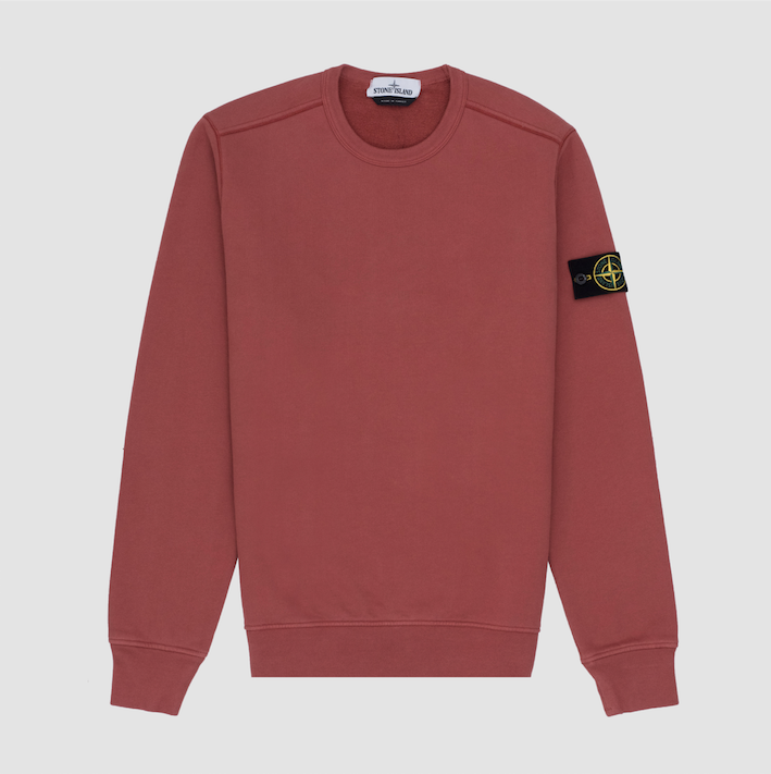 Garment Dyed Crew Sweat, Ruggine