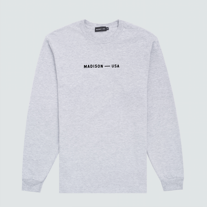 Long Sleeve Logo T-Shirt, Grey