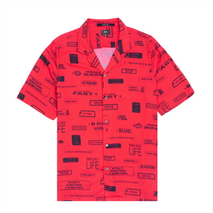 You Have Been Warned Resort Shirt, Nitro Red