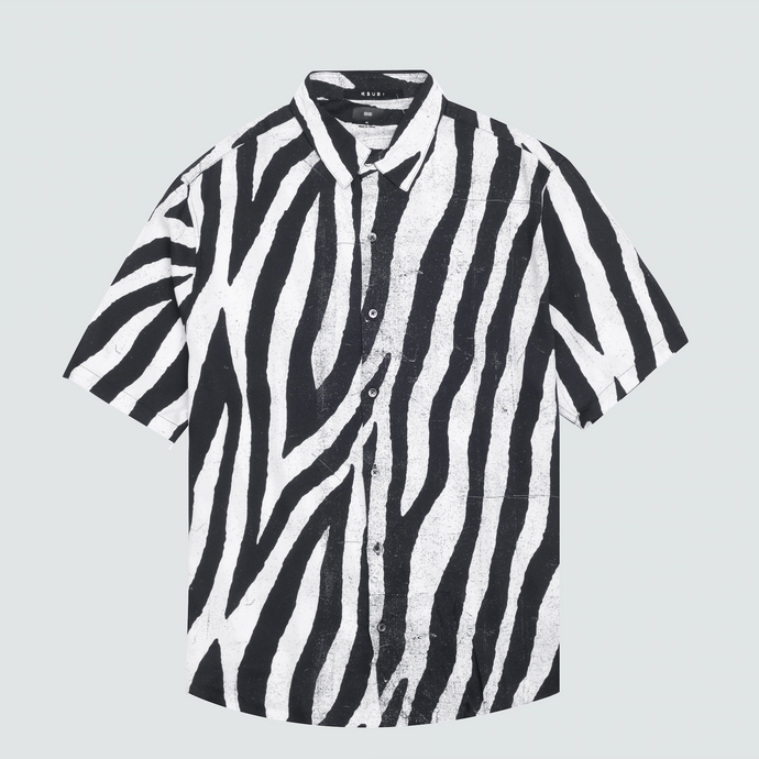 Animal S/S Shirt, Black / White