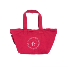 Load image into Gallery viewer, Wellness Logo Tote, Varsity Red/White Print