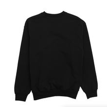 Load image into Gallery viewer, Black Logo Wellness Crewneck, Black/White Print
