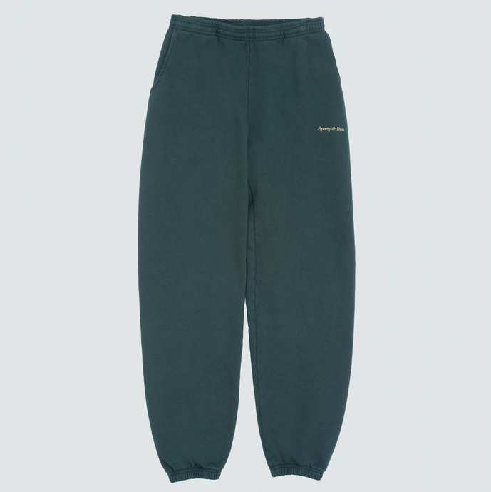 Classic Logo Sweatpant, Forest Green/Gold Stitch