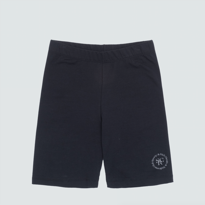 Wellness Logo Biker Shorts, Black/White Print
