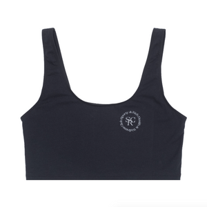 Wellness Logo Cropped Tank, Black/White Print